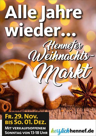 Plakat Weihnachtsmarkt im Zentrum